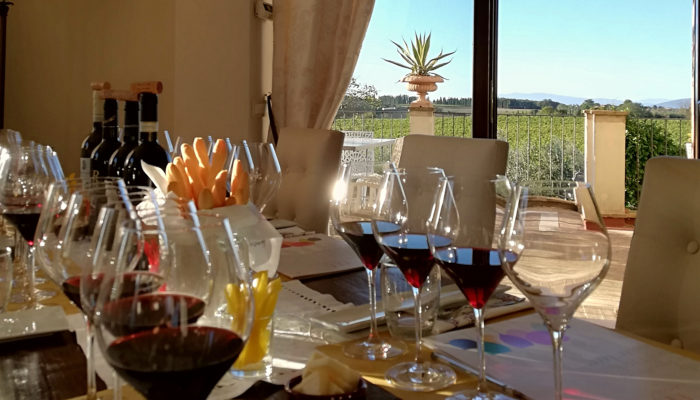 Personal sommelier wine tasting in villa